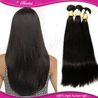 Cheap 5A HOT !!! straight hair weaves human hair for braiding Brazilian Peruvian Indian Malaysian Mongolian Silk base closure 3pcs lot 100g bundle