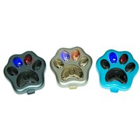 Wholesale Dog Paw Shape Real Time Smart GPS Tracker Blue Black Gold for Optional ACA_129