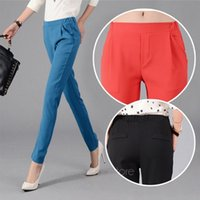 Wholesale New Brand Women Stretch JeansLadies Candy Color Slim Pencil Pants Harem Trousers Skinny Casual Multicolor SE3213