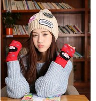 Wholesale 19 styles Winter Warm Half Finger Gloves Fashion Knit Korean Women Ladies Girls Cute fingerless gloves R1184