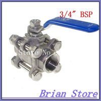 Wholesale 5pcs DN20 G3 quot Female Piece Full Ports Stainless Steel Ball Valve including the shipping fee