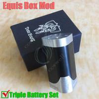 aluminium battery box - Tres Equis Box Mod Clone Triple Battery Mechanical Huge Vapor mods Aluminium Delrin Material Hammer of god V2 Eiffel e ecigarette DHL