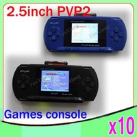 Wholesale PVP inch bit game console handheld game player video games AV out function free game card ZY PVP2