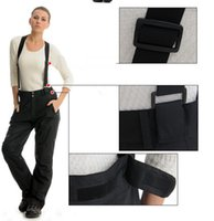 Wholesale 2 layers skiing snowboard pants women winter sportswear outdoor hiking sport suit loose high waist wide leg trousers female