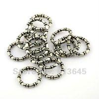Wholesale 100PCS Top Fashion Jewellery Pendants Scarf Accessories Round Circle Gun Black Color CCB Charm Rings AC0059B