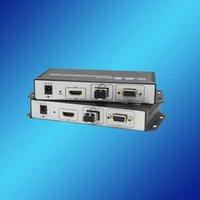 Acheter 4k uhd vidéo-Freeshipping 4K UHD HDMI sur l'émetteur-récepteur de fibre 10km, HDCP, mode simple, double fibre, DVI vidéo compatible, haute qualité