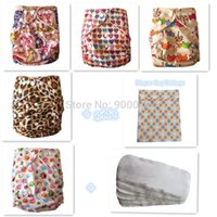 baby terry nappies - FreeShipping Baby Reuseable Pocket Cloth Diaper Nappy bamboo terry Inserts wetbag free giftzz1