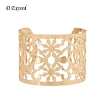 asia alloys - 2016 Cuff Bangles Asia Design Jewelry Fashion Open Bracelets for Women Gold Plated Wrist Cuffs Hollow Out Wide Cuffs Bangles BL153197