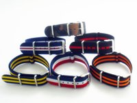 Wholesale Wholesales mm Camouflage France Flag Stripe Canvas Nylon Nato Military Watch Strap Band Watchband Bracelet