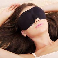 Wholesale New Unisex Seamless D Stereoscopic Goggles Eyes Patch Stress free Sleeping Eyes Masks Black Sleep Masks YT0019
