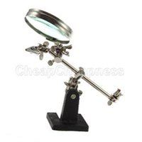 Wholesale 2015 New Enhanced Third Hand Soldering Iron Stand Holder Station Magnifier Tool Kit With Low Price