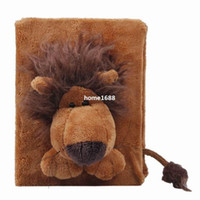 baby boy scrapbook album - Hot Sale Baby Boy Girl Album Brown Lion Interleaf Type Children Cartoon Animal Soft Plush Cover Scrapbook Kids Gift