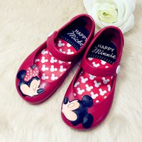 beach shoes children - Cute Baby Kids Beach Sandals Mickey Minnie Toddler Baby Children Footwear Candy Smell Mini Melissa Shoes DHL Shipping