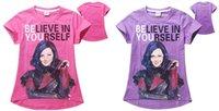 Wholesale 2Colors Descendants Girls Asymmetric Tee Shirt Cotton Girls Short Sleeve Tshirt Top Tees For yr Free DHL
