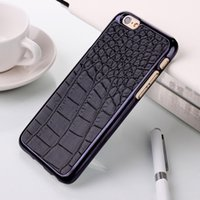 crocodile skin - 2014 Hot Luxury Crocodile Leather skin Chromed Plated PC Hard Case For Apple iPhone Plus Screen Firm