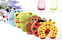 Cabinet Lock big cabinets - Big promotion Child Baby Animal Cartoon Jammers Stop Door Stopper Holder Lock Safety Guard jy094