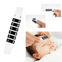 Wholesale New x Forehead Head Strip Thermometer Fever Body Baby Child Kid Test Temperature MD049