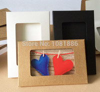 apparel photos - 4 quot x6 quot kraft Postcard Box with window foldable photo box with window DIY card packaging size c A2