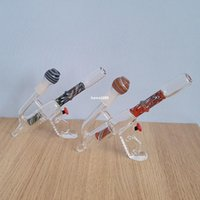 gun water pipe - 2015 New arrival Corlorful Gun Shape Oil Rigs Water Pipes Roor Bongs mm Joint cm High To US ML05008
