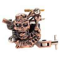 art cast - K400 Skull Casting Tattoos Body Art High Stability Tattoo Machine Warps Coils R Minute Purple Bronze TBA_103