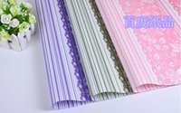 atmosphere wallpaper - Wrapping paper cm High end atmosphere striped lace wallpaper three color mix