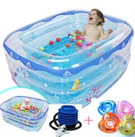 Wholesale Large Inflatable Baby Square Home Swimming Pool Infant Wash Tub In The Pool With Swimming Laps And Air Pump In A3
