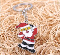 antique santa claus - NEW Hot Cartoon Game movie Key Chain Santa Claus Alloy keychain wedding favors keychain cc53