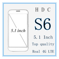 Wholesale DHL HDC s6 Mobile Phone Inch x720 HD Screen MTK6582 Quad Core GB RAM GB ROM GPS MP Android Lollipop Goophone with case