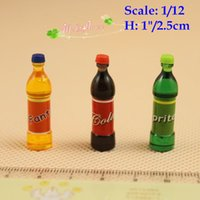 Wholesale Doll house miniature bottled soft drinks Cola Sprite Finda