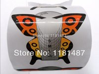 beautiful nail form - beautiful design butterfly roll large zise Art Nails Extension Forms