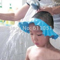 Wholesale 5 Adjustable baby shampoo cap shampoo cap child shower cap