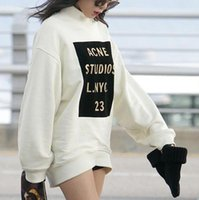 acne sweater - ACNE OVERSIZED minute gold hot word loose cotton long sleeved sweater hedging