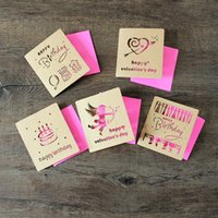 Wholesale 2015 Romantic Birthday Greeting Cards Kraft paper Merry Christmas Gifts cards D Holiday Blessing cards Folded New Year cards