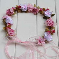 Wholesale 2015 Flower Girl Head Pieces Colorful Lovely Flower Garlands Floral Princess Hair Accessories Flower Loop Photography Props
