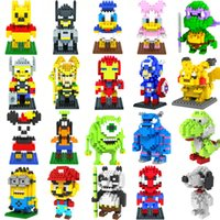Wholesale 50 designs LOZ New Despicable Me Super Mario blocks small particles assembled fight inserted blocks cm Cheap z