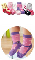 baby antibacterial - Infant Socks Baby Cotton Socks and Non slip Floor Socks Hot Kids Breathable Comfortable and Antibacterial Cartoon Baby Socks