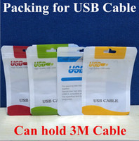 Wholesale Cable packing Retail Package Bag Boxes For Micro USB charger data sync cable audio earphone iphone S plus s s Samsung Galaxy S5 S6 LG