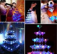 Wholesale Christmas decoration Flash Ice Cube block light Water Actived Flash Led Lamp Water Drink Flash Automatically for Party Wedding bars