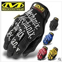 Wholesale MECHANIX Tactical Gloves US Seal Army Military Outdoor Men s Full Finger Motorcycle Cycling Bike Work Leather Gloves Gym Mittens