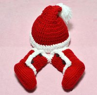 Wholesale Baby toddler infant Christmas Fleece hat Red Snow shoes boots Winter Fall Winter Christmas Santa caps boots H