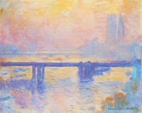 artist bridge - Claude Monet decoration oil painting Charing Cross Bridge famous artist reproduction