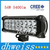 Wholesale 9 Inch Cree W LED Light Bar W Flood Spot Pencil Beam lm IP68 for WD x4 Offroad Jeep Truck CarLED Work Light
