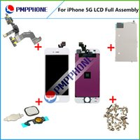 Wholesale Replacement Touch Screen LCD Display Digitizer Frame Small parts Full Set Assembly for iPhone G white black color