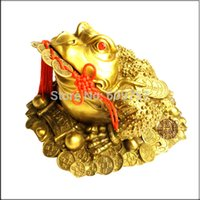arts crafts copper - size cm Copper Marked China Feng Shui Guardian beast JinChan Toad Animal Statue Decoration crafts cattle art gift goods