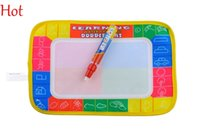 Wholesale 29x19cm Educational Baby Toys Kids Water Drawing Painting Writing Mat Board with Magic Pen Doodle Gift Christmas Child Learning Toys