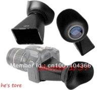 Wholesale V2 LCD Viewfinder x quot inches Magnifier Extender Hood for Canon D Nikon D90 hood for canon lens