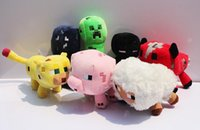 Wholesale Minecraft Enderman creeper Mooshroom sheep squid cow pink doll pig quot Baby Pig Piggy Stuffed animals styles plush toys epacket