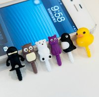 ninja iphone - creative cartoon birds owl penguin duck bear ninja dust plugs for iphone mm earphone jack plug
