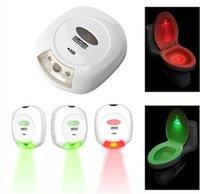 Wholesale New LED Sensor Motion Activated Toilet Light Bathroom Flush Toilet Lamp Luminous Nightlight Battery operated