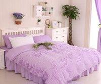 bedskirts for queen beds - S amp V Korean bedding sets cotton bed linen princess bedskirts lace comforter bedclothes king size duvet covers for